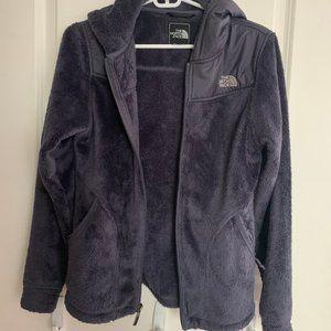 The North Face dark purple fuzzy jacket